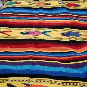 Vintage Mexican Woven Blanket